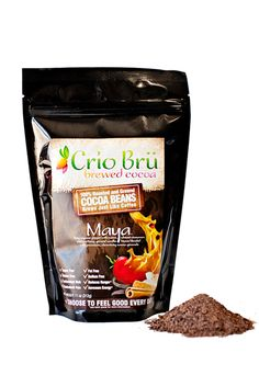 Crio Brü Maya Fiery cayenne pepper with warm vibrant cinnamon & soothing ground vanilla beans blended with premium, chocolaty cocoa grounds  For thousands of years, the Maya and Aztecs drank an unsweetened health elixir called xocoatl made from roasted cocoa & hot peppers. Experience the changing & harmonizing flavors in this exquisite and energizing blend of premium ground cocoa beans, cayenne pepper, cinnamon & vanilla beans.  Try some today!