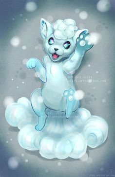 Alola Vulpix by Jiiri on DeviantArt