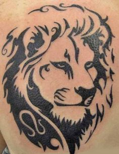 14 Best Tribal Lion Body Tattoos Images Tribal Lion Tattoo Lion