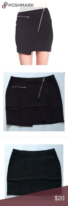"""Black skirt Black skirt. Brand new with tags. 60% cotton/ 40% polyester. Fully lined and not sheer.  SMALL: 14.5"""" long/ 26"""" waistband MEDIUM: 15"""" long/ 28"""" waistband LARGE: 16"""" long/ 30"""" waistband Availability- S•M•L • 1•1•2                                         ⭐️This item is brand new with manufacturers tags, boutique tags, or in original packaging. NO TRADES Price is firm unless bundled Ask about bundle discounts Skirts Mini"""