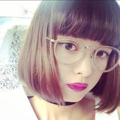 Kiko Mizuhara, Actress Photos, Japanese Girl, Bangs, Asian Girl, Short Hair Styles, Hairstyle, Actresses, Glasses