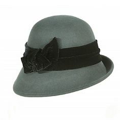 Scala wool cloche with velvet band.