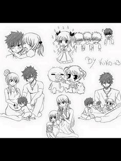 GRAYLU KIDS KAWAIIII Fairy Tail Kids, Fairy Tail Gray, Fairy Tail Funny, Fairy Tail Love, Fairy Tail Couples, Fairy Tail Manga, Anime Fairy, Anime Lemon, Nalu