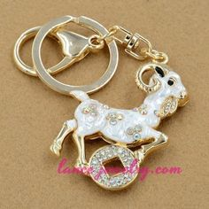 Lucky sheep model pendant decoration key chain