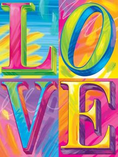 Brushstroke LOVE Art Print by Lisa Frank at Art.com