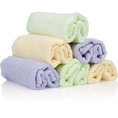 Bamboo Organics Baby Washcloths - 6 Premium Reusable Wipes - Extra Soft For Sensitive Skin Bamboo Organics