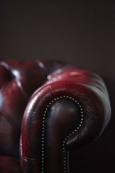 Indulgent leather in Oxblood. Fit for a library!