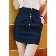 $13.60 High-Waist Solid Color Sexy Style Denim Women's Skirt
