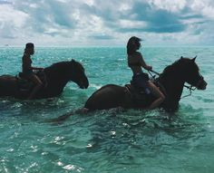 Image result for riding horse through water