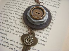 Very cool, trash to treasure necklace! Love it!