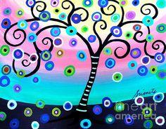 tree, tree of life, whimsical, beautiful life, beauty of life, judaica, bar, bat, mitzvah, b'nai, prisarts, pristine cartera turkus, interior design, nursery, baby room , design, house warming, gift, cool, best-seller, popular, klimt, folk art, mexican art, mexican painting, mexican town, filipino, philippines, pilipino, pinoy