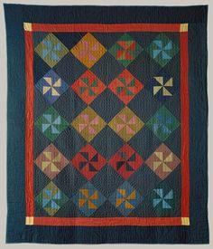 Unidentified maker (J.L.): Pinwheel quilt [Indiana] (1988.128) | Heilbrunn Timeline of Art History | The Metropolitan Museum of Art