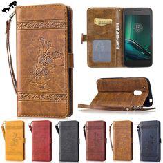 Retro luxury oil Flip Case for Motorola Moto G4 Play XT1607 Case Phone Leather Cover for Moto G 4 Play G4Play XT1603 XT1609 Bag #Affiliate