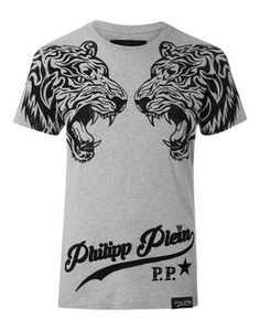 "PHILIPP PLEIN T-SHIRT ROUND NECK SS ""DUBLE TIGER"". #philippplein #cloth #"