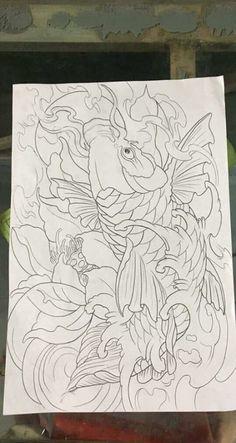 Tattoo sleeve koi art 68 Ideas for 2019 Koi Tattoo Design, Japan Tattoo Design, Clock Tattoo Design, Japanese Koi Fish Tattoo, Japanese Sleeve Tattoos, Tricep Tattoos, Koi Art, Carpe Koi, Triangle Art