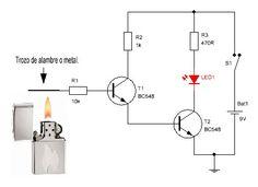 Detector de fuego - circuito                                                                                                                                                                                 Más
