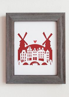 Amsterdam, Netherlands. Personalized Gift or Wedding Gift. $29.00, via Etsy. Not red though. Purple or teal
