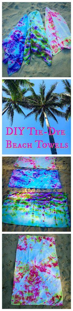 So fun for Summer! Tie-Dye Beach Towels!