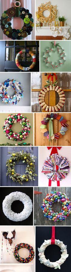 Des couronnes de Noël home made !   Deco Décoration Design MyDz
