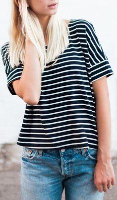 Black Stripes Short Sleeve T-shirt