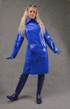Blue PVC Raincoat