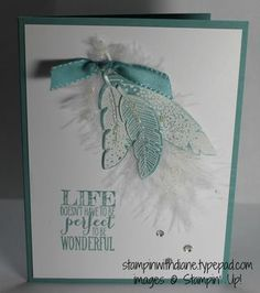 Four Feathers Make 'n Take Please come and like my Facebook page Stampin-with-Diane/249204018555071