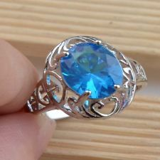 Unique Jewelry - Jewelry Fashion  925 silver Sapphire wedding ring size7 gift for women N437-7