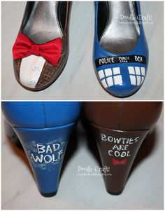 These would be a perfect finishing touch to a Tardis Halloween Costume. Doctor Who Cosplay, Dr Who Costume, Tardis Costume, Tardis Cosplay, Doctor Who Halloween Costumes, Tardis Dress, Cute Costumes, Cosplay Costumes, Superwholock