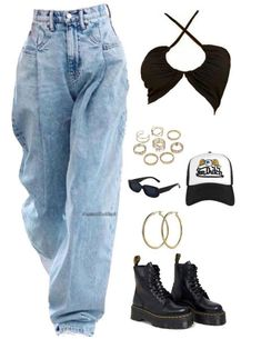 Teen Fashion Outfits, Outfits For Teens, Women's Fashion, Blue Jean Outfits, Cute Casual Outfits, Polyvore Outfits, Streetwear Fashion, Spring Outfits, Street Wear