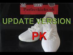 "Yeezy Boost 350 V2 ""Cream White"" Update Version HD Review + UV Light Tes..."