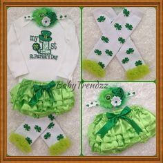 First St.Patrick's Day/ Irish Bloomer set/ Lime by BabyTrendzz