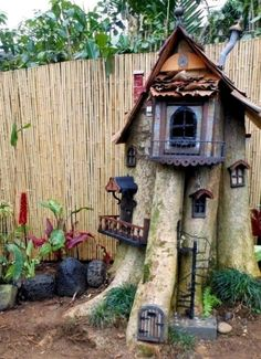 What to do with an old stump - fairy garden ideas.