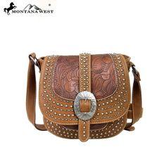 New ,Montana West,Western Buckle Collection Messenger Handbag,Purse  #MontanaWest #ShoulderBag
