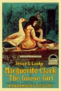 Theatrical poster for the 1914 silent film The Goose Girl starring Marguerite Clark.  The film is lost.