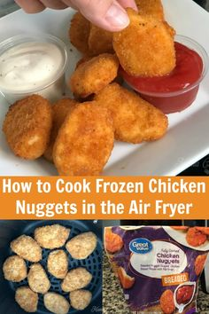 Cooking delicious, crispy chicken nuggets at home using store bought nuggets is SUPER easy with an air fryer! Skip the oven and cook nuggets that taste more like take out! We cook up frozen nuggets in Air Fryer Recipes Dessert, Air Fryer Oven Recipes, Air Frier Recipes, Air Fryer Recipes Chicken Thighs, Chicken Thigh Recipes, Frozen Chicken Recipes, Junk Food, Frozen Chicken Nuggets, Recipes With Chicken Nuggets