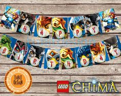 Lego Chima Birthday Party Banner Instand Download  by TuKitDesign, $3.50