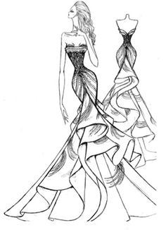 282 best disney von sketches images on pinterest drawings Blouse Sketches mermaid gown sketch dress designer dress sketches anne