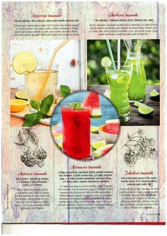 Domácí limonády Smoothie, Food And Drink, Fruit, Drinks, Fitness, Drinking, Beverages, Smoothies, Drink