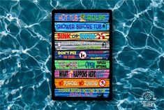 Aluminum Signs, Metal Signs, Swimming Pool Rules, Image Chart, Pool Signs, Luau Party, Funny Signs, Thing 1 Thing 2, Order Prints