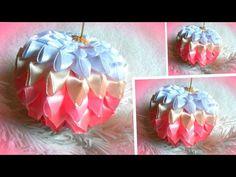 christmas ornaments, DIY tutorial, Christmas balls on the Christmas tree - YouTube