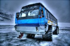 Ice Explorer on the Athabasca Glacier