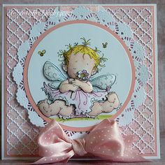 Stamp is Baby Fairy Flora by Mo Manning