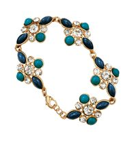 Floral Embellished Statement Bracelet