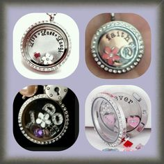 Customize your own locket w/floating charms  www.charms.cuteascandles.com