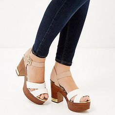 Platform heeled sandals from River Island