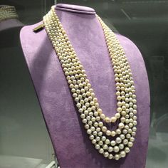 The perfect Mother's Day gift!  A five strand, natural pearl & diamond necklace from the collection of Her Serene Highness -H.S.H. Gabriela Princess zu Leiningen. Viewed these at Christie's Geneva @christiesjewels Jewels highlights preview yesterday- Wow - gorgeous! A necklace I could be very happy with! Estimate is CHF 350,000- 500,000.  Perfect, right?! #naturalpearls #fivestrand #pearl #pearlnecklace #naturalpearlnecklace #christies #christiesjewels #christiesgeneva #magnificentjewels...