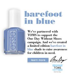 Essie nail polish-barefoot in blue, great spring color!