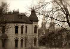 Museum Hill Historic District by wallflower810, via Flickr St Joseph Mo, Old Buildings, Amazing Architecture, Victorian Homes, Oh The Places You'll Go, Old Houses, Missouri, The Neighbourhood, Mental Asylum