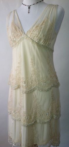 Art deco  great Gatsby style lace and beaded by LALAPOUBELLE, $275.00
