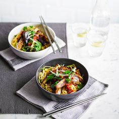 Ditch the take away menu and grab a pan, these low calorie vegetarian noodles are a quick and easy mid-week meal idea guaranteed to hit the spot